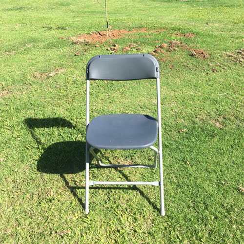 Grey Metal Folding Chair